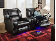 Wall Hugger Recliner with LED CupHolders & Floor Lighting