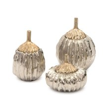 Set of Three Decorative Pumpkin Containers