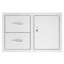 2-Drawer/Door Combo (Masonry Flange)