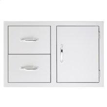 2-Drawer/Door Combo