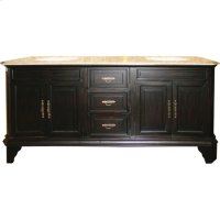 Double 72 in. W Mahogany Birch with MDF Vanity Product Image