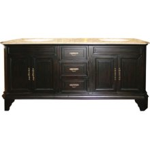 Double 72 in. W Mahogany Birch with MDF Vanity