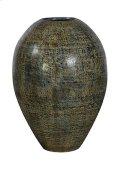 Medium Black-Blue Cream Urn Product Image