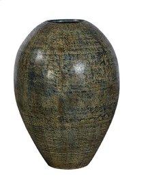 Medium Black-Blue Cream Urn