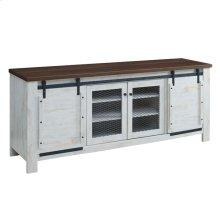 "Bennington 70"" Rustic Sliding Door Buffet Table Sideboard in White"