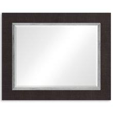 """Coffee & Silver """"Homespun"""" Mirror"""