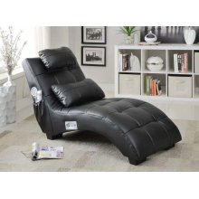 Accent Seating Modern Black Chaise