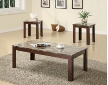 700395 Brown 3PC Table Set