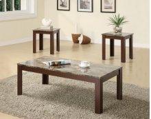 700395 Brown 3PC Table Set