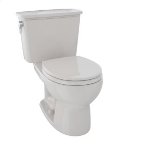 Eco Drake® Transitional Two-Piece Toilet, 1.28 GPF, Round Bowl - Sedona Beige