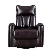 Emerald Home Maverick Swivel Glider Recliner-leather-look Brown-u7132-04-05