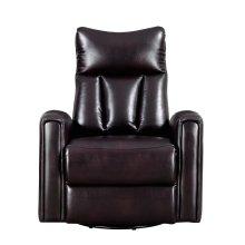 Emerald Home Maverick Swivel Glider Recliner-leather-look Brown-u7132-04-05