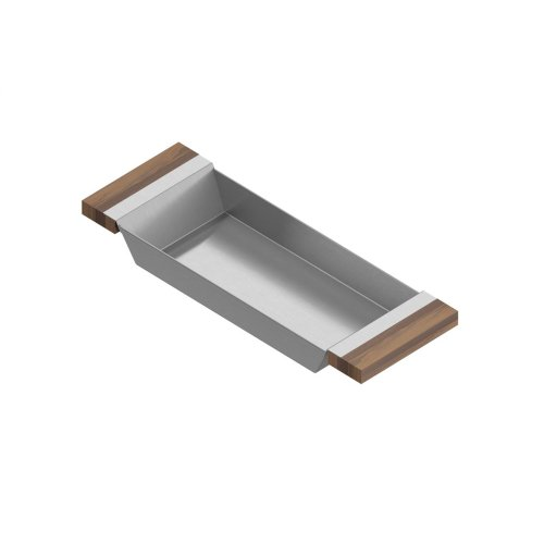 Tray 205220 - Stainless steel sink accessory , Walnut