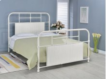 Cheriton Bed - Queen, Antique White Finish