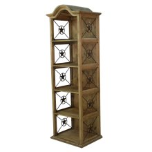 Pine Bookcase with Iron Stars
