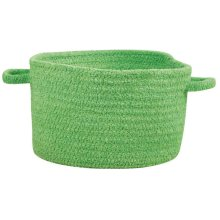 Citrus Green Chenille Creations Basket