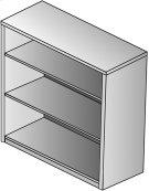 "Kenwood 3-shelf Bookcase/hutch, 42"" High Product Image"