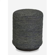 Surfside round ottoman/ table -- gray (16x16x19)