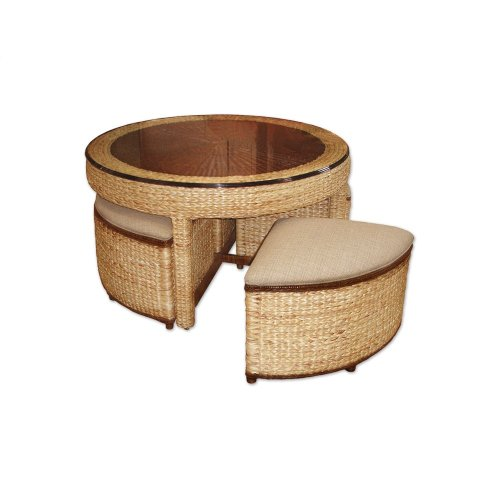 Hassock Table, Available in Natural Abaca Finish Only.