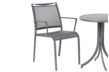 Maribo Alum. Sling Stackable Bistro Arm Chair