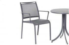 Maribo Alum. Sling Stackable Bistro Arm Chair