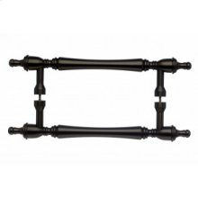 Somerset Finial Door Pull Back to Back 8 Inch (c-c) - Oil Rubbed Bronze