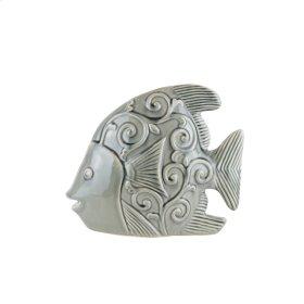 "Ceramic Fish Decor 12.25"",GRAY"