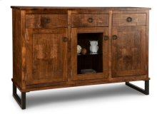 Cumberland Sideboard w/2 Wood Doors &1/Center Glass Door &3/Dwrs & 2/Wood & Glass Adjust.
