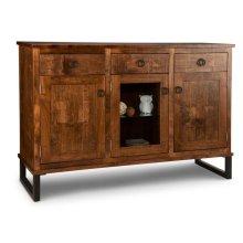 Cumberland Sideboard w/2 Wood Doors &1/Center Glass Door &3/Dwrs & 2/Wood & Glass Adjust.