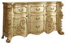"""Zelda Gold Dresser - 70""""L x 21""""D x 39""""H"""