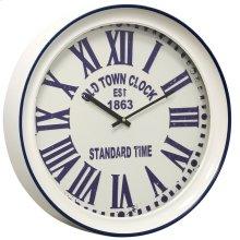 Metal & Glass Wall Clock  17in X 17in X 3in
