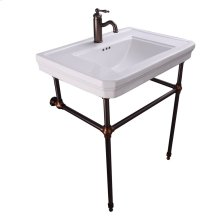 """Drew 30"""" Console with Brass Stand - Single-Hole / Oil Rubbed Bronze"""