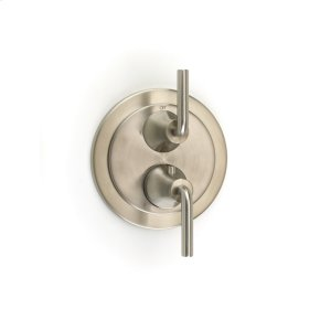 Dual Control Thermostatic with Diverter and Volume Control Valve Trim River (series 17) Satin Nickel