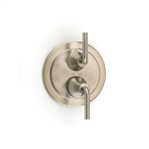 Dual Control Thermostatic With Diverter and Volume Control Valve Trim Taos Series 17 Satin Nickel