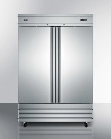 Commercially Approved Frost-free Reach-in Two-door Freezer In Complete Stainless Steel; Replaces Scff495