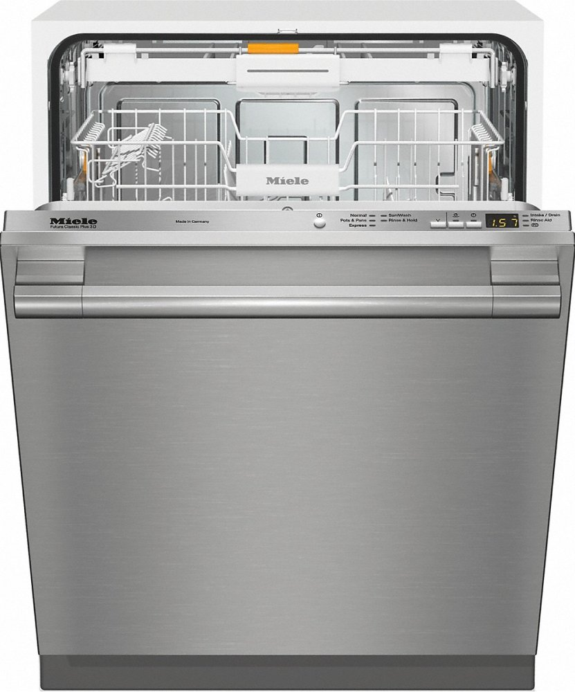 Miele G 4998 Scvi Sf Am Fully Integrated Full Size Dishwasher With Hidden Control Panel Cutlery Tray And Cleantouch Steel