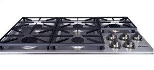 "Heritage 36"" Dual Gas Cooktop, Natural Gas/High Altitude"