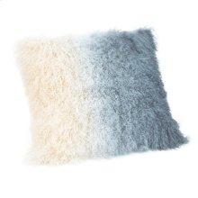 Lamb Fur Pillow Light Deep Blue Spectrum