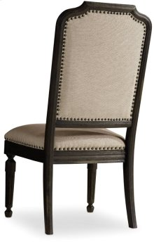 Corsica Dark Upholstered Side Chair