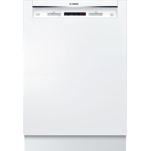 """Bosch24"""" Recessed Handle Dishwasher 300 Series- White SHE53T52UC"""
