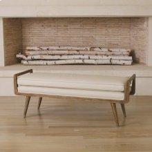 Lucas Long Bench-Beige Leather