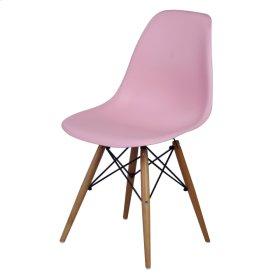 Allen Molded PP Chair Maple Dowel Legs, Pink