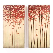 12 x 24 in. Wood Crafted Tree (set of 2)
