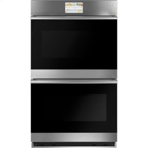 "GE30"" Smart Double Wall Oven with Convection in Platinum Glass"