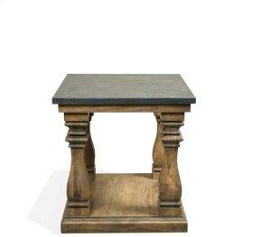Ashton Table Base 18 lbs Reclaimed Natural Pine/Bluestone finish