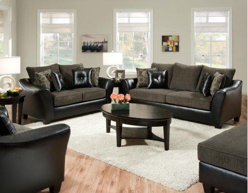 Pinnacle Gray Sofa and Loveseat