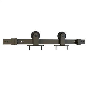 Sliding Barn Door Hardware - 8' Top Mount - Satin Nickel Product Image