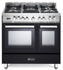 "Matte Black 36"" Dual Fuel Double Oven Range - 'N' Series"