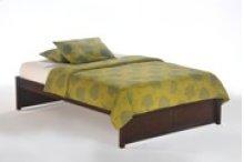 K-Series Basic Bed in Dark Chocolate Finish