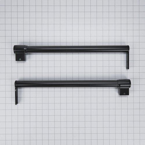 Handle Kit - Black Top Mount Flat door